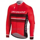 Men's Specialized RBX Comp Cycling Jersey Long Sleeve Bib Tight 2018 Red Black White