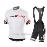 Men's Specialized SL Elite Cycling Jersey Bib Short 2015 White Red